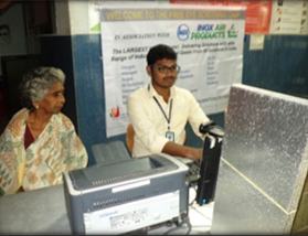 Patient registration counter