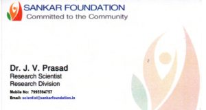 Eye institute visiting card