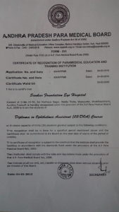 Certificate of Training Institution